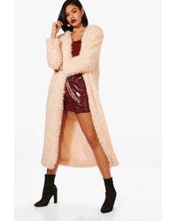 Boohoo | Jenna Maxi Faux Fur Coat | Lyst