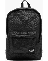 Boohoo Black Canvas Rucksack With Pu Panel in Black for Men | Lyst : black quilted rucksack - Adamdwight.com