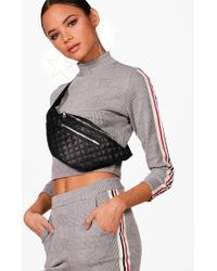 Boohoo - Quilted Pocket Front Bumbag - Lyst