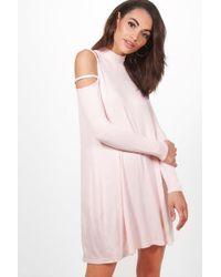 Boohoo - Rosamary Strappy Shoulder Swing Dress - Lyst