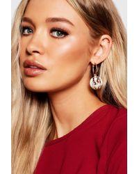 Boohoo - Queen Nefertiti Coin Earrings - Lyst