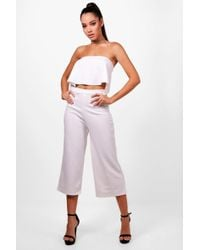 Boohoo - Bandeau Top & Culottes Co-ord Set - Lyst