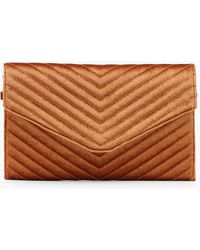Lyst - Boohoo Skye Mongolian Faux Fur Clutch Bag 1c04260299