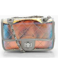 Boohoo - Holographic Clear Quilt Cross Body - Lyst