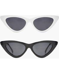 Boohoo - Jessica 2 Pack Skinny Cat Eye Fashion Glasses - Lyst