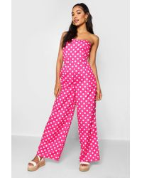 952cb6e4ff12 Lyst - Soaked In Luxury Spot Overall Jumpsuit