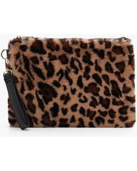 a917e7417343 Lyst - Boohoo Fliss Multi Faux Fur Cross Body Bag in Pink