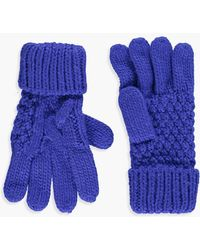 Boohoo - Olivia Knitted Cable Glove - Lyst