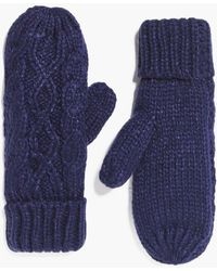 Boohoo - Ava Cable Knit Mittens - Lyst