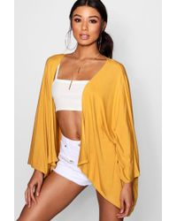 Boohoo - Batwing Jersey Kimono - Lyst