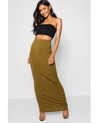 Boohoo - Basic Jersey Maxi Skirt - Lyst