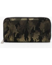 Boohoo - Metallic Camo Purse - Lyst