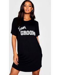 Boohoo - Team Groom Sleep Tee - Lyst