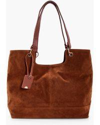Boohoo - Suedette Shoulder Bag - Lyst