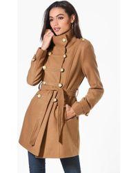 Boohoo - Military Wool Look Coat - Lyst