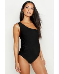 5e75ceb7f726b Boohoo Maternity Scoop Back Swimsuit in Black - Lyst