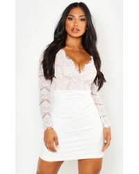 6170439e35 Forever 21 Textured Eyelash Lace Dress in White - Lyst