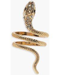 Boohoo - Statement Snake Ring - Lyst
