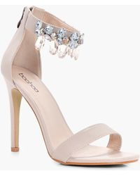 Boohoo - Embellished Ankle Band 2 Part Heels - Lyst