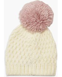 Boohoo - Contrast Over Sized Pom Beanie - Lyst