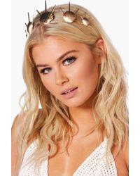 Boohoo - Katherine Boutique Mermaid Shell Head Crown - Lyst