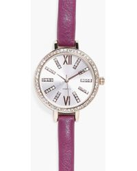 Boohoo - Lydia Bauble Present Diamante Watch - Lyst