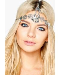 Boohoo - Ruby Boutique Vintage Embellished Head Chain - Lyst