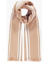 Boohoo - Lydia Varied Stripe Wool Oversize Scarf - Lyst
