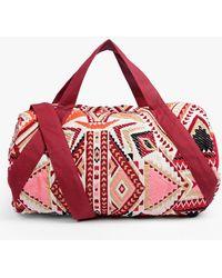 Boohoo | Rosa Woven Duffle Bag | Lyst