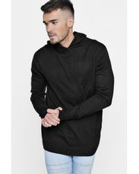 Boohoo | Knitted Over The Head Hooded Jumper | Lyst