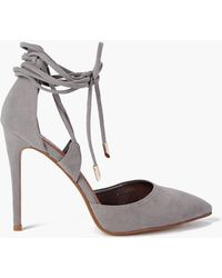 Boohoo - Pointed Wrap Strap Court Shoes - Lyst