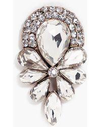 Boohoo - Inna Diamante Detail Statement Brooch - Lyst