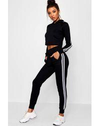 Stripe Knitted Neri Set Boohoo Lounge Tall Sports Crop eEY29HWDI
