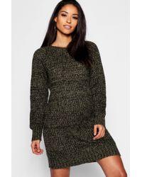 c8df71a29ad9 Boohoo - Maternity Soft Twist Knit Marl Dress - Lyst
