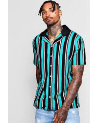 4af1e6f74a0dcc Boohoo Revere Short Sleeve Shirt With Contrast Sleeves for Men - Lyst