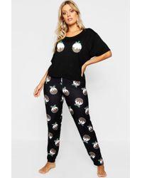 Boohoo - Plus Christmas Pudding Pyjama Set - Lyst