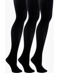 Boohoo - Denise 60 Denier 3 Pack Tights - Lyst
