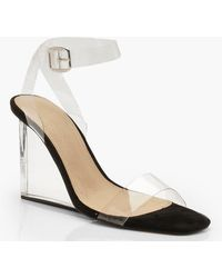 4d60d6b8646 Steve Madden Xtrime T-Strap Wedges in Natural - Lyst