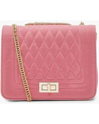 Boohoo - Suedette Quilted Cross Body - Lyst