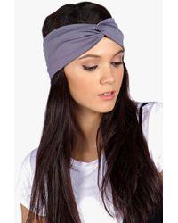 Boohoo - Olivia Jersey Twist Knot Turban Headband - Lyst