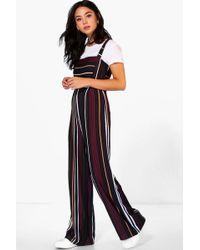 Boohoo - Striped Jumpsuit - Lyst