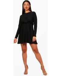 Boohoo - Josie Micro Ruffle Skater Dress - Lyst