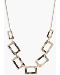Boohoo - Rectangle Linked Resin Necklace - Lyst