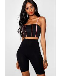 Boohoo - Neon Piping Strappy Bralet - Lyst