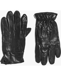 Boohoo   Leather Gloves With Sheepskin Lining   Lyst