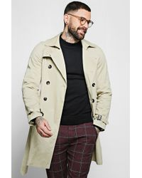 BoohooMAN - Double Breasted Smart Trench - Lyst