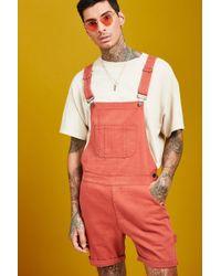 BoohooMAN - Slim Fit Short Length Overalls - Lyst