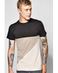 Boohoo - Spliced T Shirt - Lyst