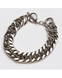 BoohooMAN Chunky Chain Bracelet - Metallic