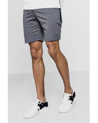 Boohoo - Man Signature Skinny Fit Shorts With Sports Zip - Lyst